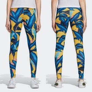 Adidas X farm yellow leggings